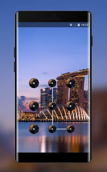 Lock theme for oppo f5 landmark city wallpaper APK