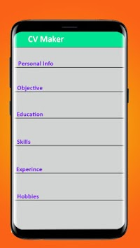 CV Maker (RESUME CREATOR) APK : Download v1 5 for Android at AndroidCrew