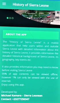 History of Sierra Leone APK : Download v1 3 for Android at AndroidCrew