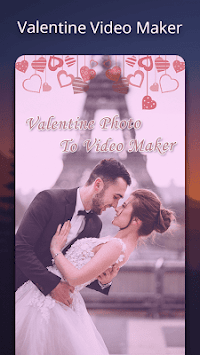 Valentine video maker with music - Photo Slideshow APK screenshot 1