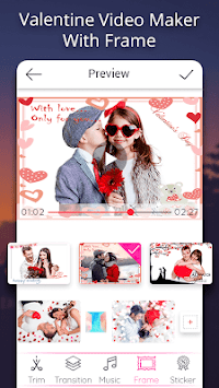 Valentine video maker with music - Photo Slideshow APK screenshot 2