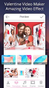 Valentine video maker with music - Photo Slideshow APK screenshot 3