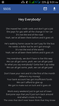 5SOS Lyrics APK : Download v2 9 for Android at AndroidCrew